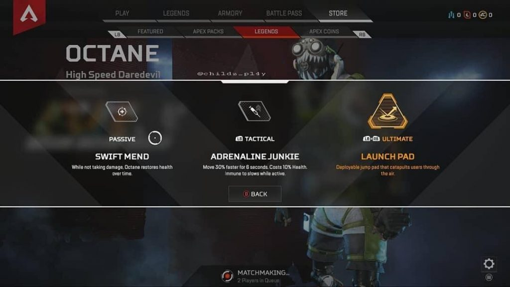 apex legends octane abilities leak