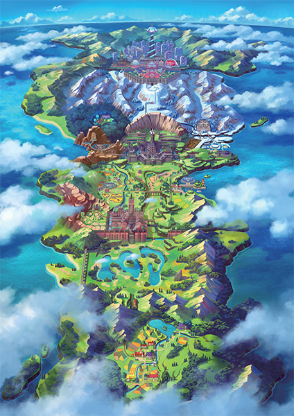 pokemon galar regio map