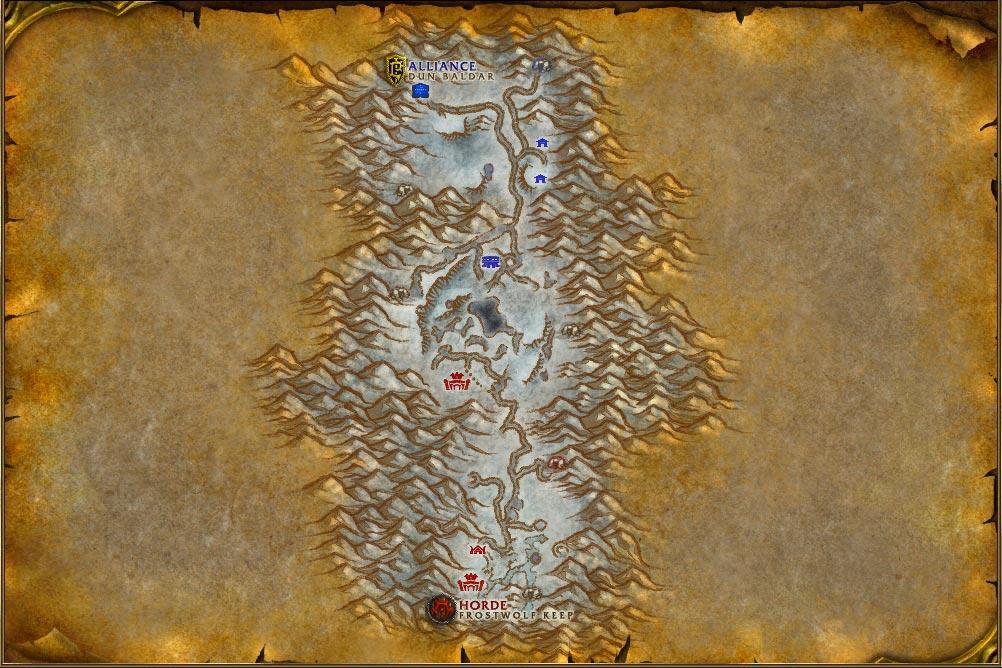 alterac valley map vanilla