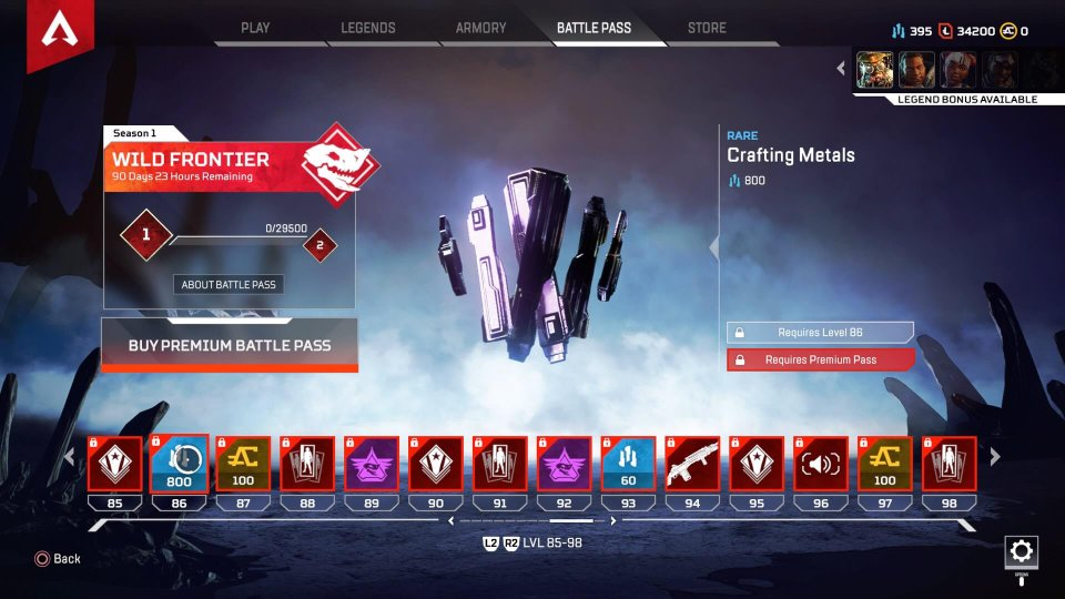 apex legends crafting materials krijgen