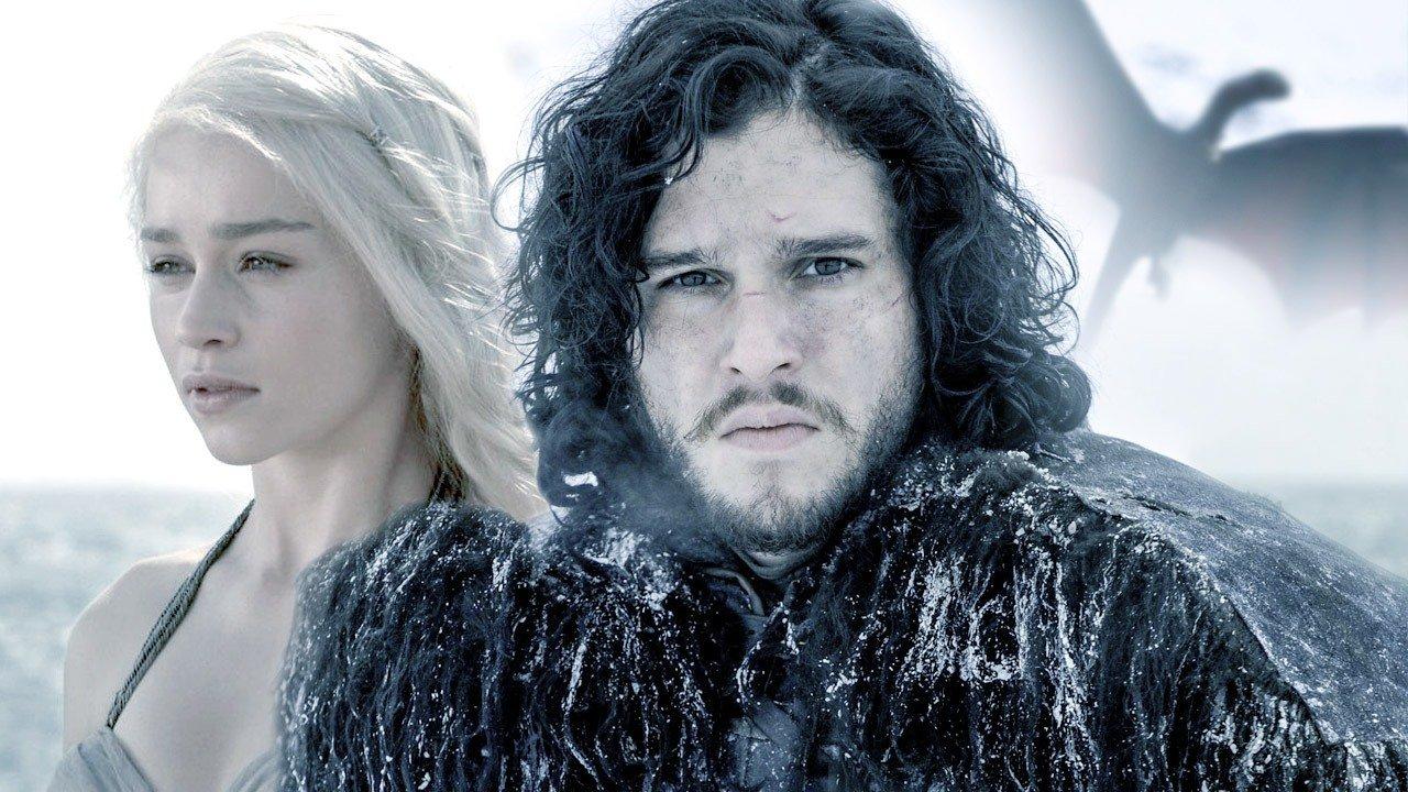 khaleesi en jon snow game of thrones