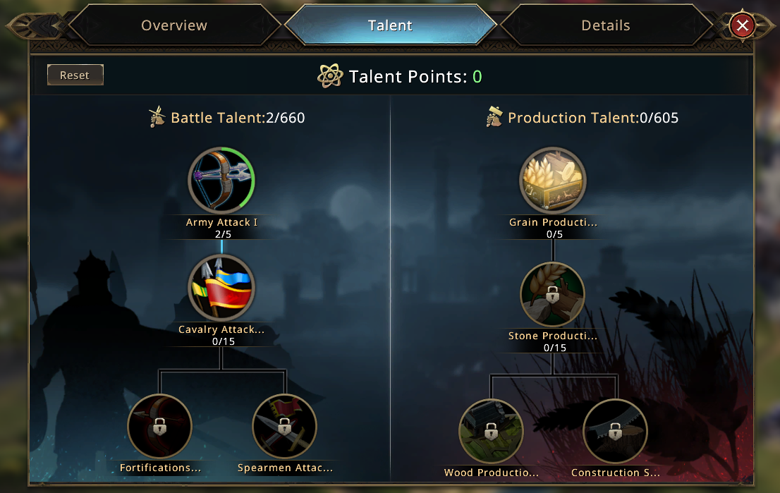 game of thrones winter is coming talent system
