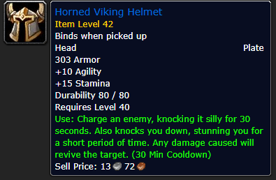 horned viking helm wow classic