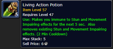 living action potion