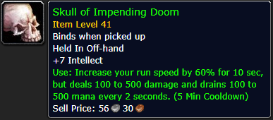 skull of impending doom wow classic