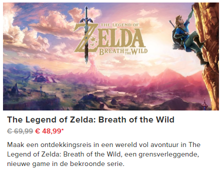 zelda breath of the wild aanbieding