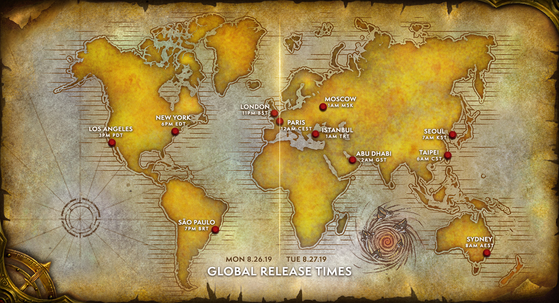 global wow classic release date