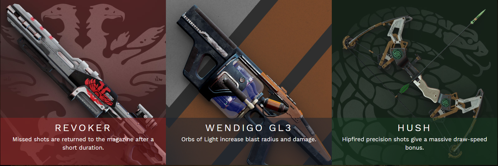 destiny 2 pinnacle weapons